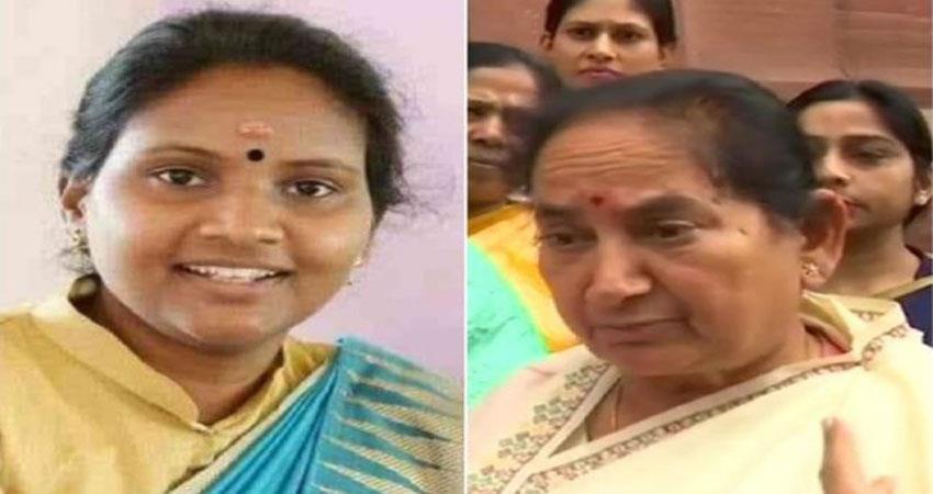 riots-between-two-women-mps-in-parliament-bjp-congress-modi