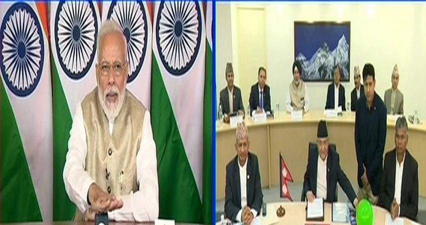 Modi inaugurates India Nepal pipeline