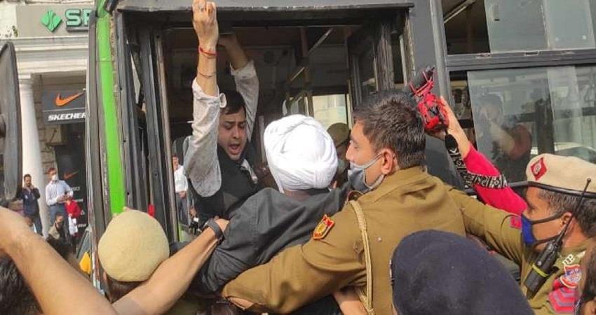 delhi police arrested aap mla jarnail singh farmers protest kmbsnt