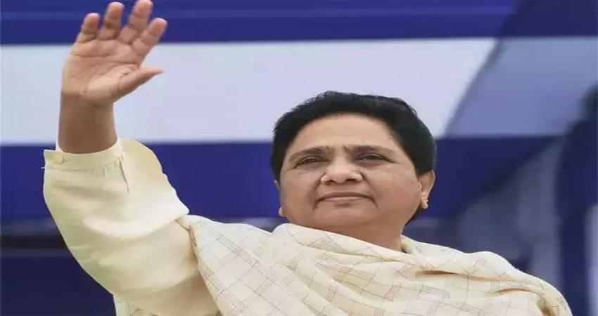 mayawati said work on sp-bjp rule only on the development  of bsp up pragnt