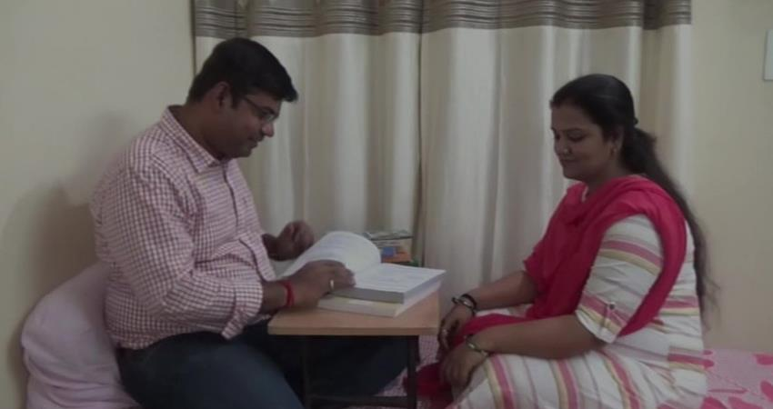 husband gets first position and wife gets second position in chhattisgarh pcs exam