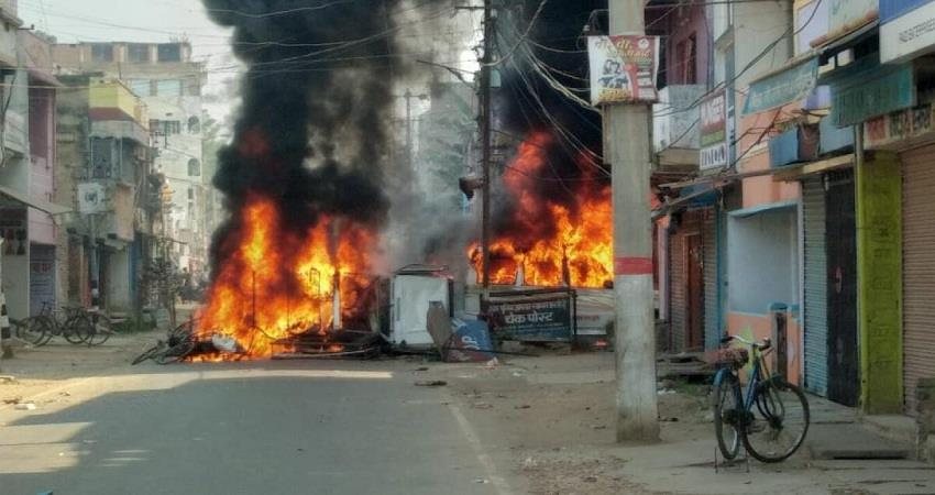 angry mob set fire to police station in protest against munger incident sohsnt