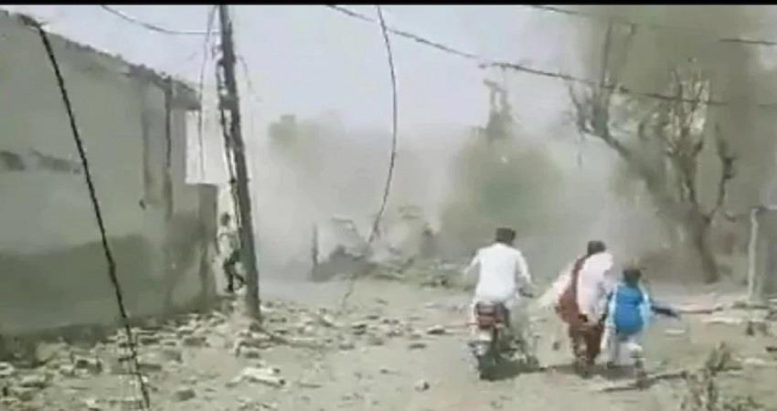 blast outside a house in lahore johar town in pakistan kmbsnt