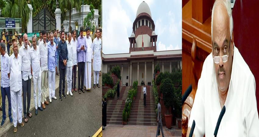 speaker moves sc seeking more time to deal with the resignation issue of rebel mlas