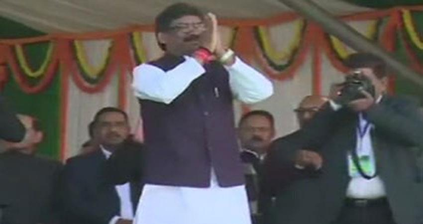 jharkhand hemant soren sworn in as cm many stalwarts including rahul