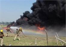 यूपी: किसान आंदोलन के दौरान यूपीसीडा के गोदाम में लगाई आग, लाखों का नुकसान