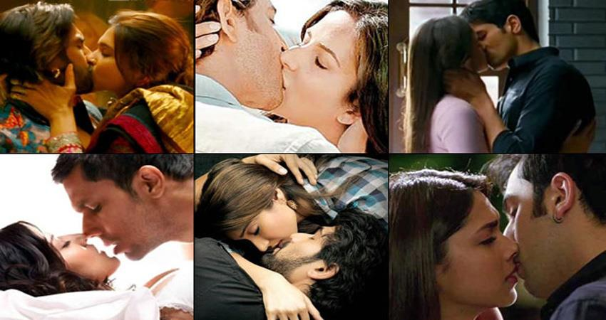 see bollywood hot kissing scene on this international kissing day