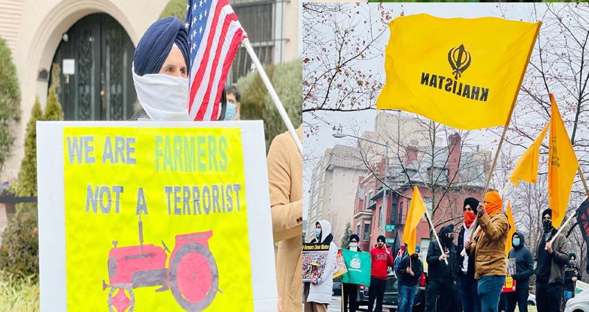 us khalistan supporters protest outside indian embassy prshnt