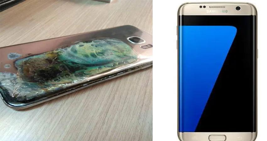 samsung galaxy s7 edge caught fire blast