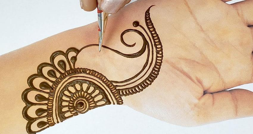 decorate the beauty of these mehndi design by adopting them