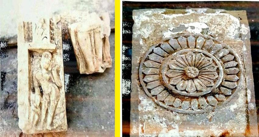 sculptures, shivling and fragmented pillars found in the leveling of ramjanmabhoomi prshnt