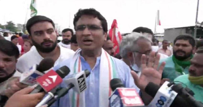 bharat bandh ghazipur border farmers said anil chaudhary leave from their site of protest kmbsnt