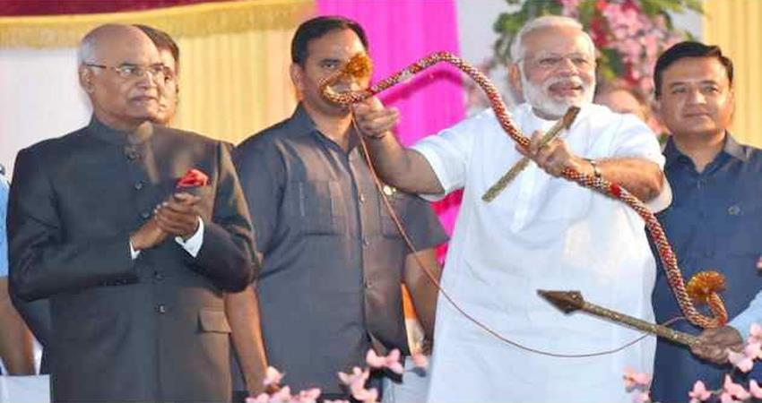 dussehra celebration delhi dwarka pm narendra modi president ramnath kovind