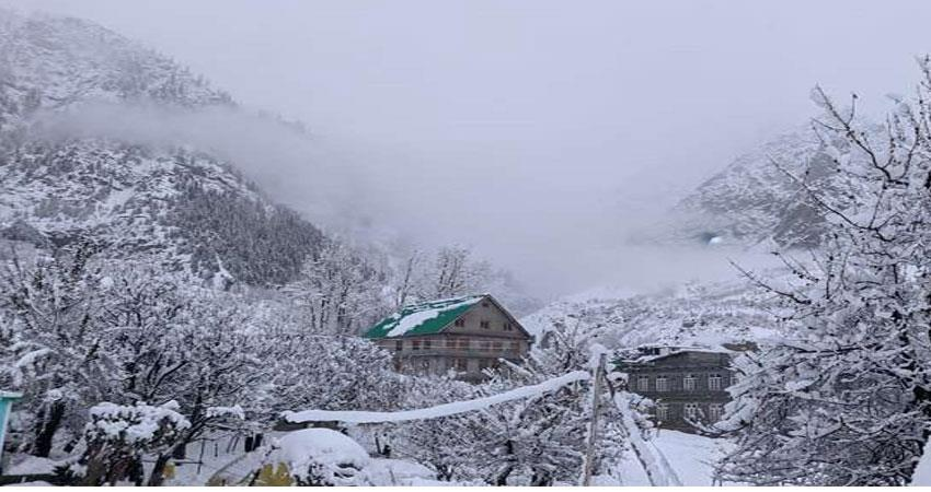 snowfall in the valley breaks the contact with the country tremendous cold ALBSNT
