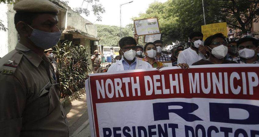 angry over not getting salary, ndmc senior doctors on group leave musrnt