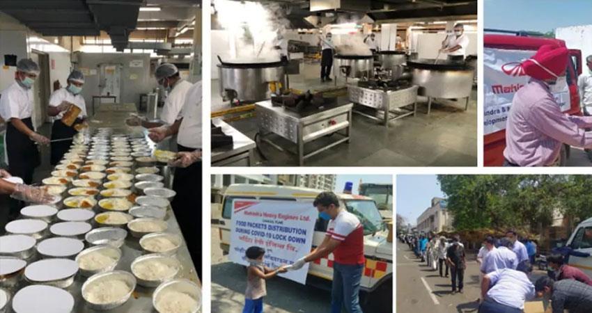 mahindra opens its kitchens covid 19 anjsnt