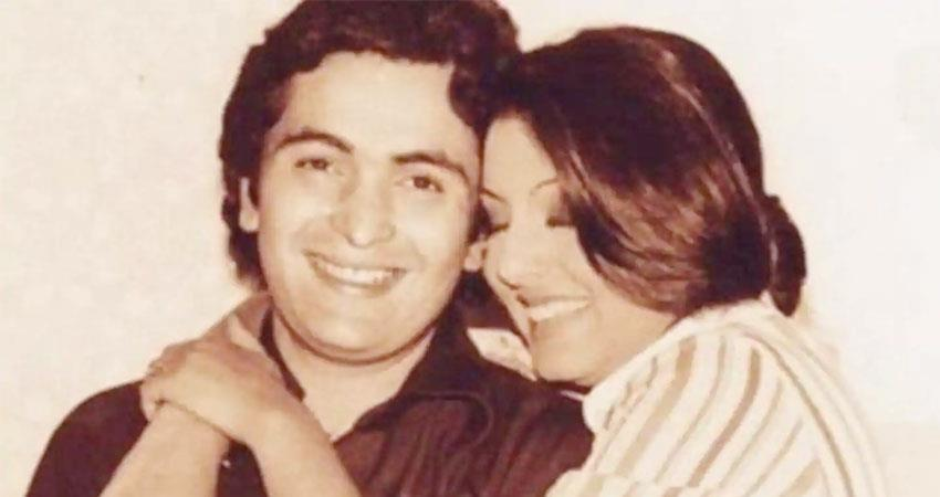 neetu kapoor remembers  Rishi Kapoor and shared family picture sosnnt