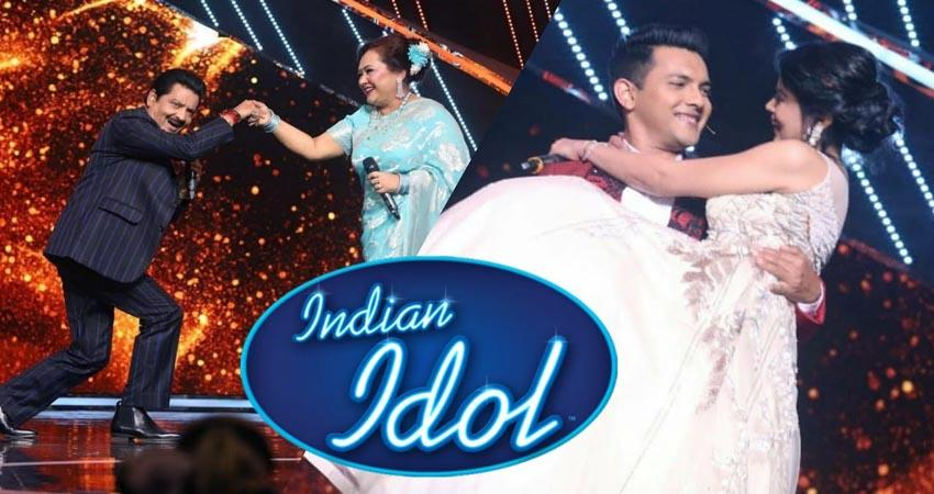 shweta aggarwal joins aditya narayan on the set of indian idol 12 sosnnt