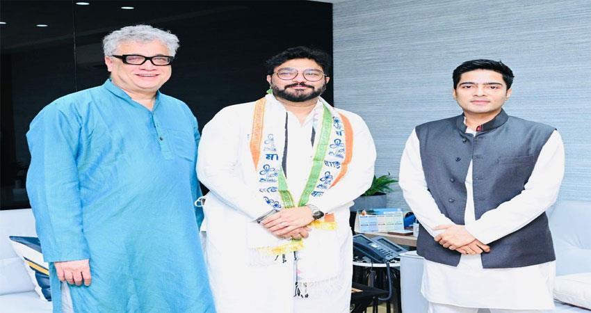 babul supriyo joins tmc, recently left bjp musrnt