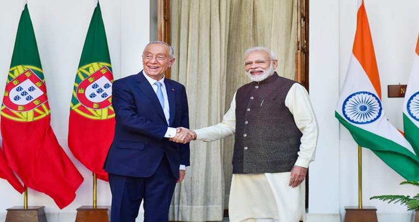 PM Narendra Modi meet Portugal Marcelo Rebelo De Sousa in delhi