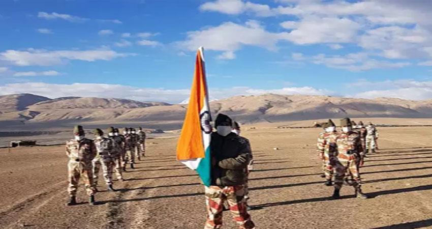 jashn e azadi showing the itbp jawans at an altitude of 16000 feet pragnt