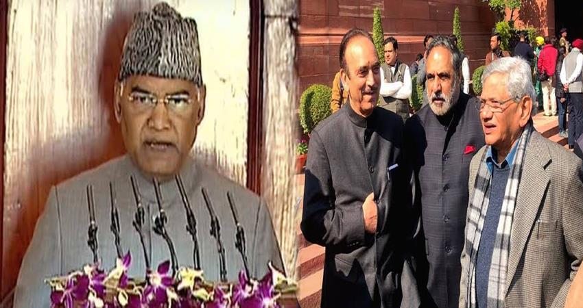 congress ghulam nabi aza attack on president ram nath kovind jammu kashmir growth