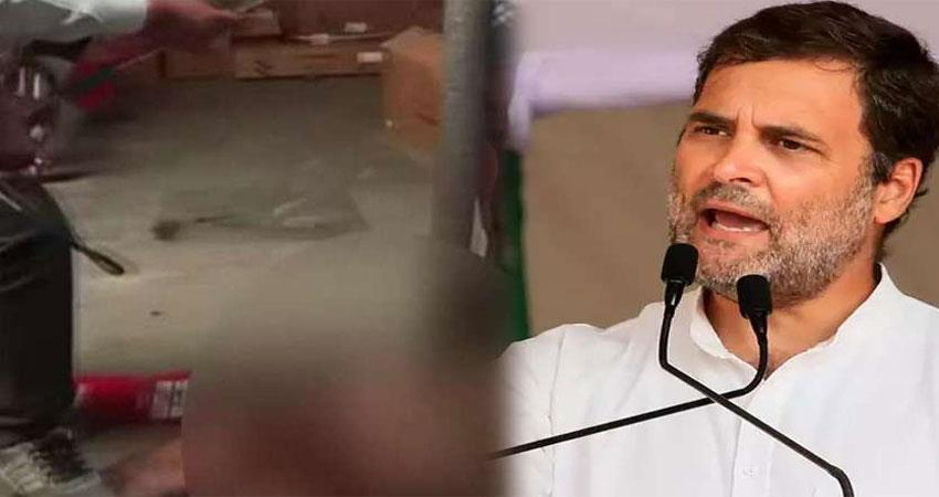 dalit youths beaten on theft charges rahul gandhi said take action gehlot government