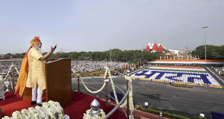 who is the jain monk buddhaisagar prime minister narendra modi praised from the red fort