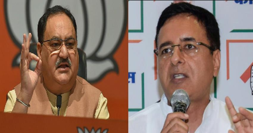 randeep surjewala challenged jp nadda said tell me if you want to debate on issues pragnt