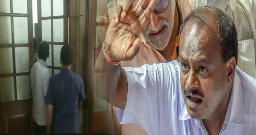 11 mlas arrive to meet karnataka assembly speaker