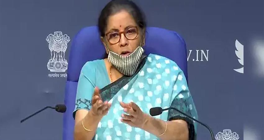 nirmala sitharaman addresses media on garib kalyan rojgar abhiyaan djsgnt