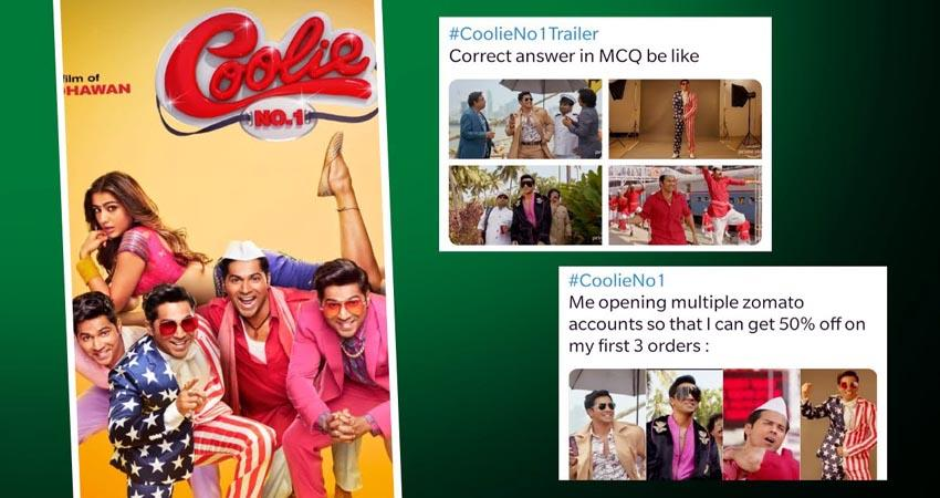 funny memes on varun dhawan and sara starer film collie no 1 sosnnt
