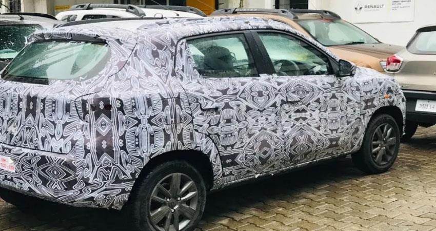 renault kwid first seen during car testing