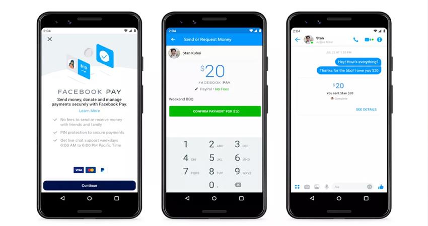 facebook launched facebook pay payment app whatsapp messenger and instagram