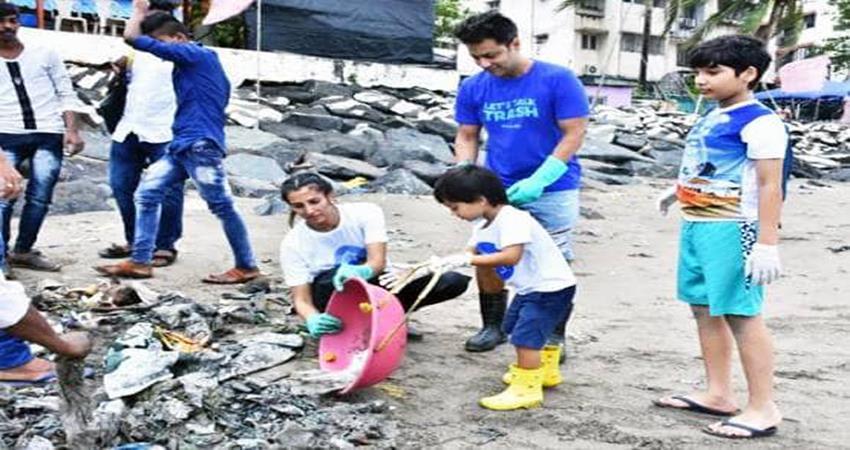 sussanne khan nora fatehi neha dhupia many celebs beach cleaning in mumbai