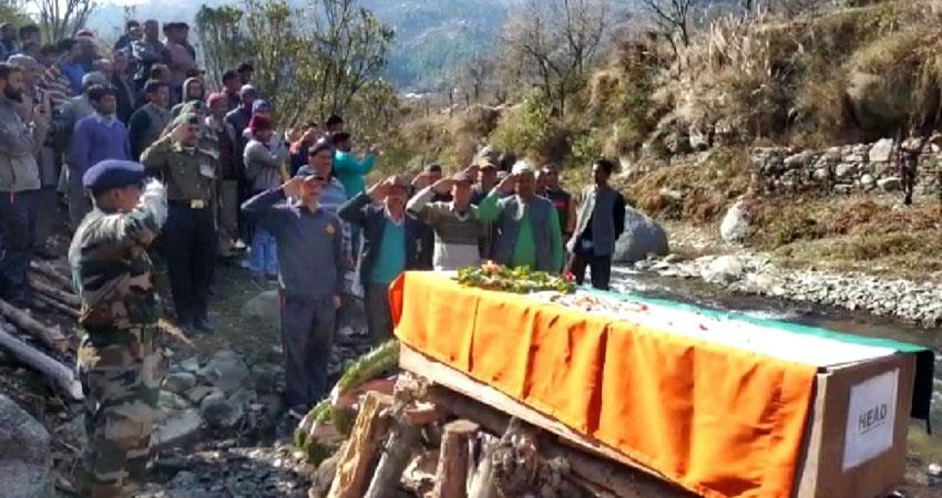 himachal martyr martyred accident occurred during military training