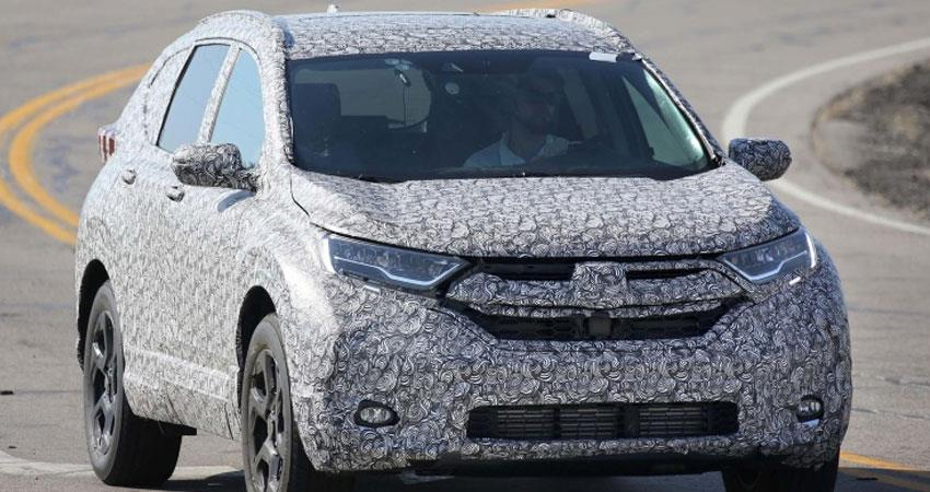 honda crv facelift first look viral during car testing