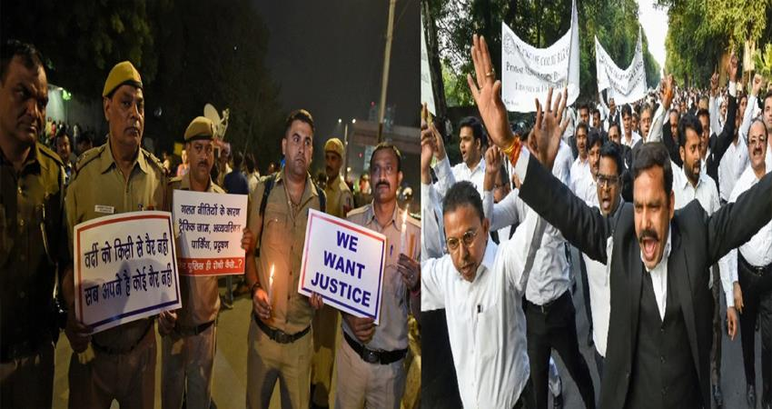 delhi police lawyers conflict delhi high court lawyers petition