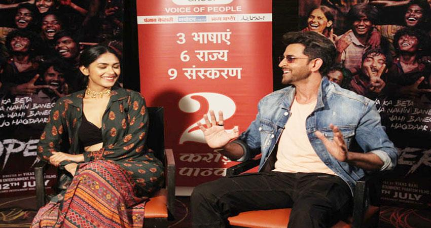 exclusive interview with hrithik roshan and mrunal thakur