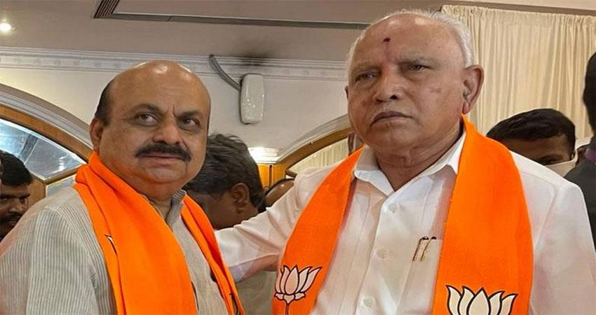chief minister ''''yeddiyurappa went'''' instead of him ''''near bommai came'''' musrnt