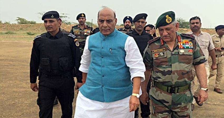 rajnath singh in pokhran our nuclear policy is no first use but  depends on the circumstances