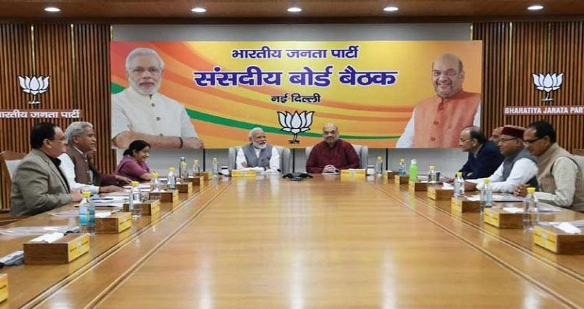 today-start-bjp-parliamentary-meating-in-delhi-cetral-hall