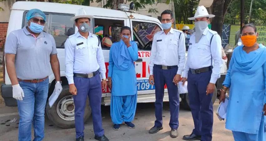 mg motor sanitise 4000 police vehicles anjsnt