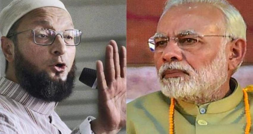 owaisi edict of pm modi cow and om statement reminded the constitution