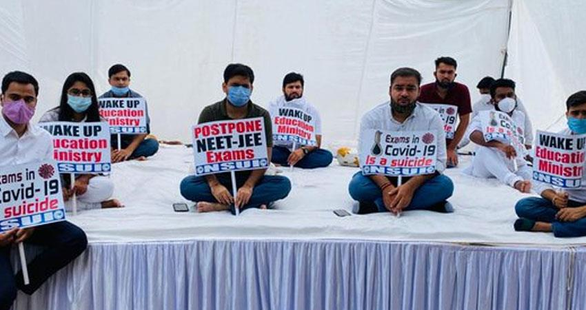 congress related student organization nsui hunger strike to defer neet jee exams rkdsnt