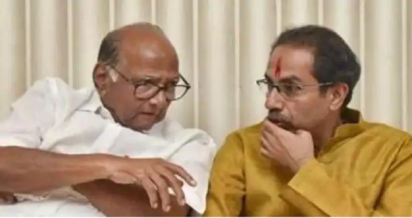 maharashtra uddhav met sharad pawar political stir broke out albsnt