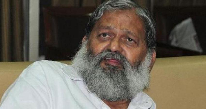 haryana minister anil vij withdrew charge of cid over cm ml khattar
