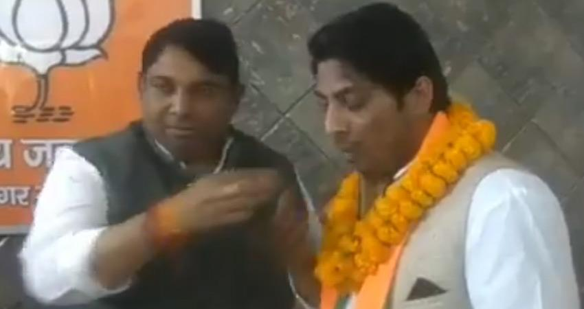 kapil gurjar joins bjp to shoot caa nrc demonstration aap raises questions delhi police rkdsnt