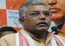 पश्चिम बंगाल में प्रदेश BJP अध्यक्ष घोष के काफिले पर पथराव और दिखाये गए काले झंडे