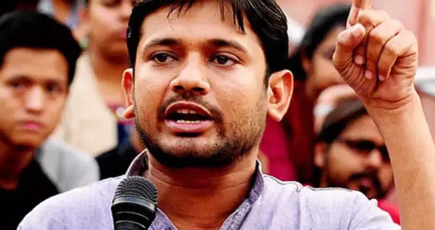 kanhaiya kumar cpim leader target pm narendra modi speech in gestures in ladakh rkdsnt